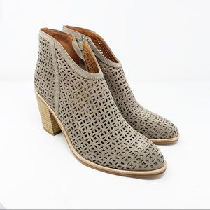 Jeffery Campbell Medera Cutout Bootie Taupe NEW